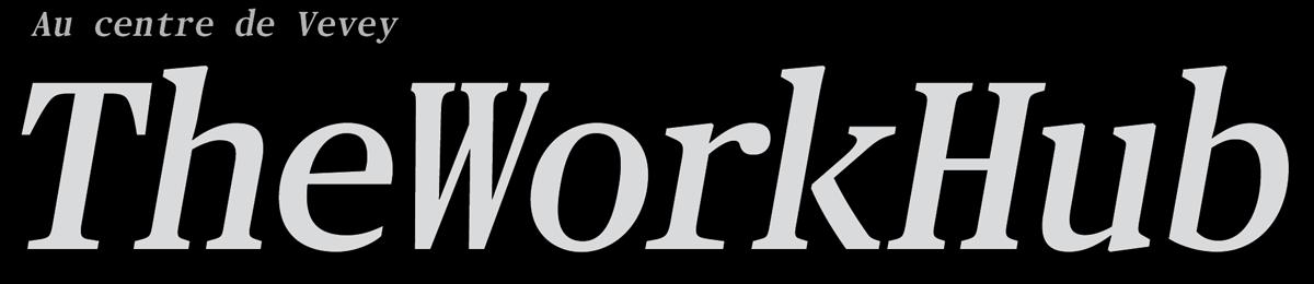 TheWorkHub logo. 2 lieux au coeur de Vevey
